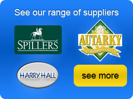 See our range of suppliers including Spillers, Harry Hill  and Autarky