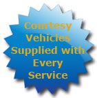 Courtesy Vehicles Supplied with Every Service