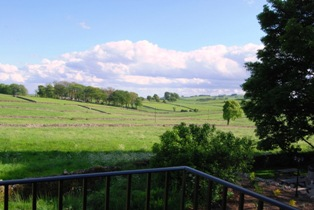view from the bridal suite balcony at peak district spa rivendale