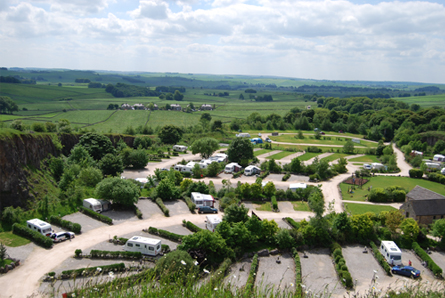 Rivendale Holiday Park site view from above
