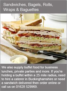 Sandwiches, Bagels, Rolls, Wraps & Baguettes