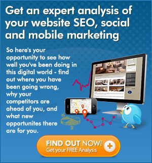 Expert analysis of your website SEO, social and mobile marketing at no cost
