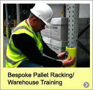Bespokepallet racking  maintenance training