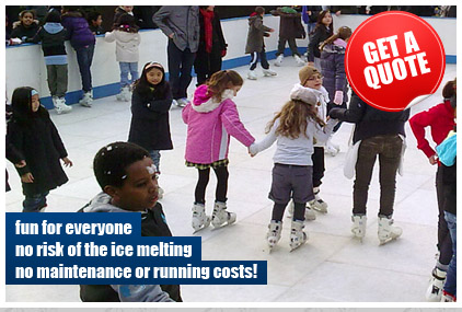 Artificial ice rinks for hire by Leisure Matters