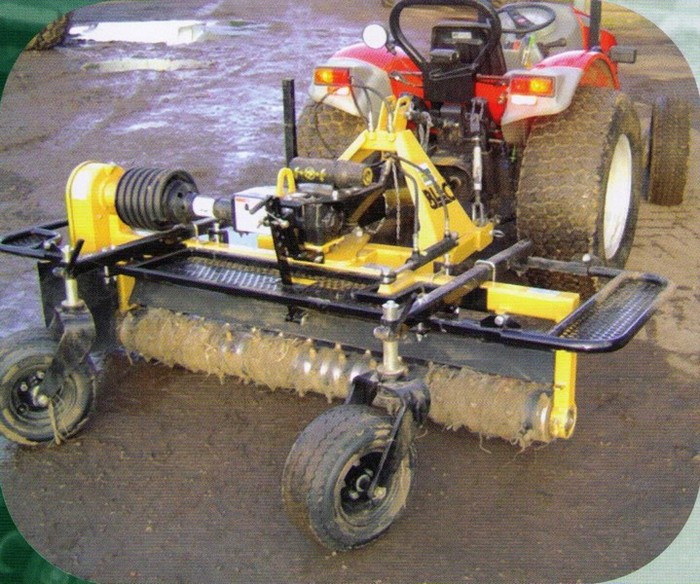 sports pitch maintenance tractor