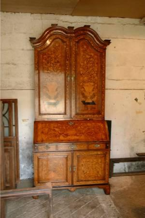 18th Century dutch inlaid bureau we restored this magnificent piece for one of the Oxford colleges