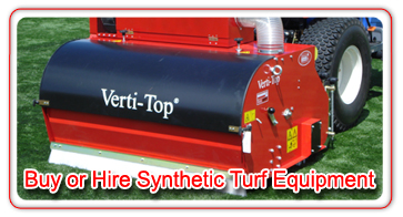 Buy or Hire Synthetic Turf Equipment