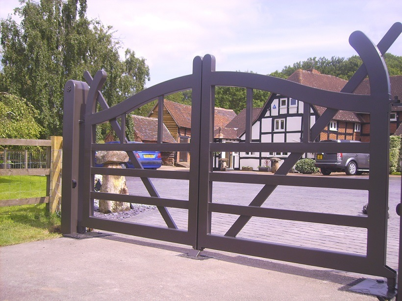 A set of steel TG-216 gates, fabricated and installed by All-Tech / Parsons Brothers